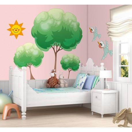 adhesivo decorativo Naturaleza Composición Infantil