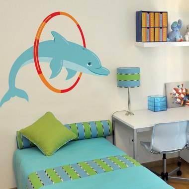 Delfín Pirueta imagen vinilo decorativo