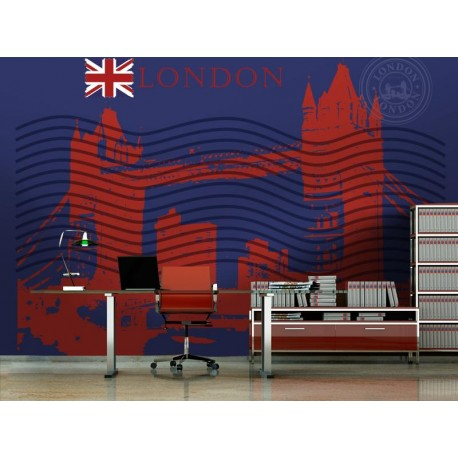 vinilo decorativo Londres Post