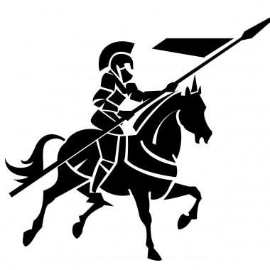 vinilos imagen producto Guerrero Medieval