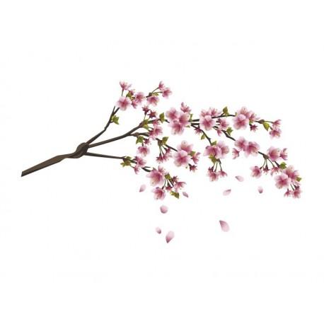 Rama en Flor decoración con vinilo