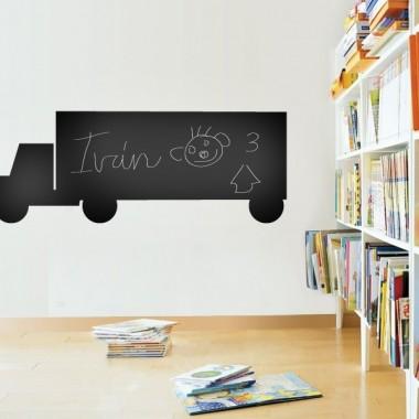 pegatina decorativa Camión II Pizarra