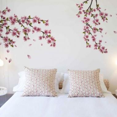 Rama en Flor adhesivo decorativo ambiente