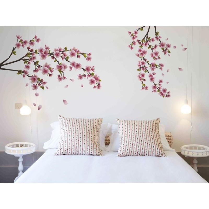 Vinilo rama en flor for Pegatinas para habitaciones