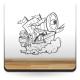 Pirata Catalejo imagen vinilo decorativo
