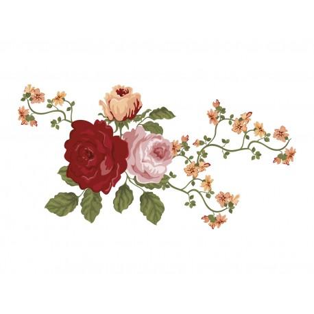 Rosas en Rama adhesivo decorativo ambiente