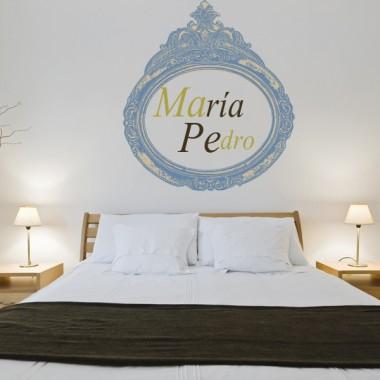 Marco Luis XV adhesivo decorativo ambiente
