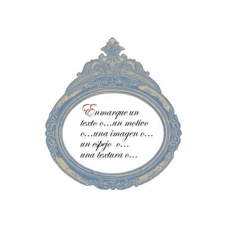 Marco Luis XV decoración con vinilo
