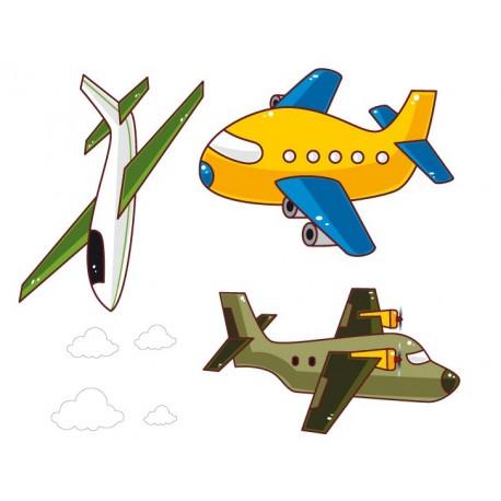 vinilo decorativo Aviones Infantil