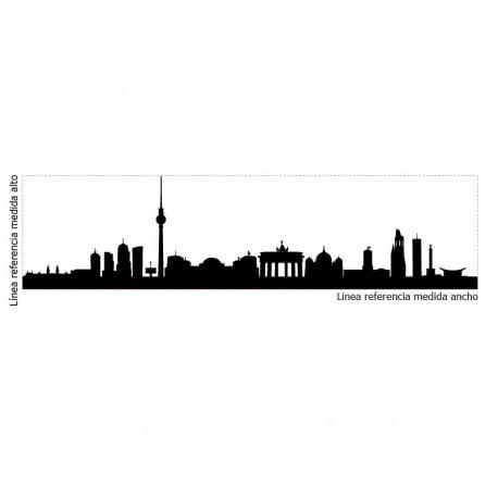 Skyline Berlín imagen vinilo decorativo
