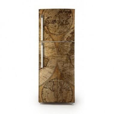 Vinilo Mapa mundi para frigorífico-vinilos-decorativos