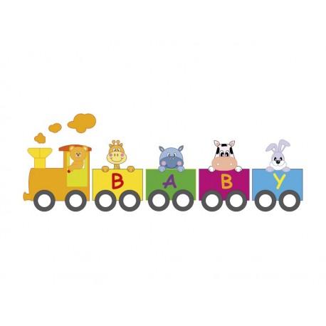 Animales Tren imagen vinilo decorativo