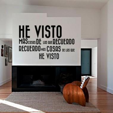 Vinilo Vintage Texto He Visto... decoración con vinilo