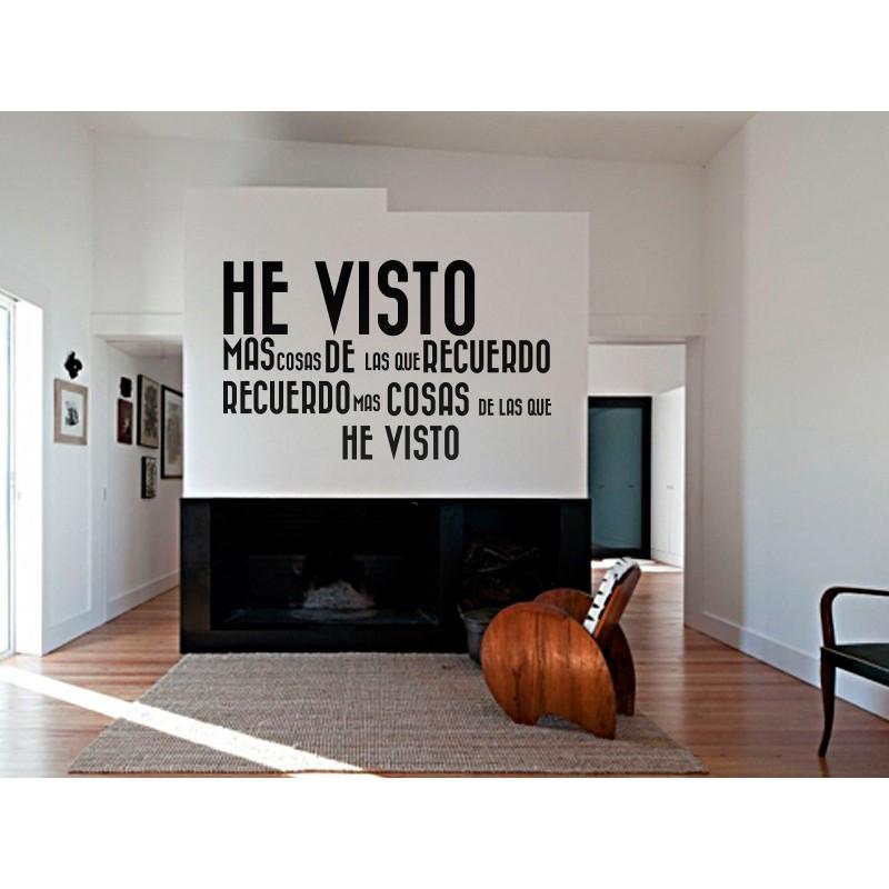 Vinilo vintage texto he visto - Vinilos con textos ...