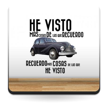 Vinilo Coche Época con Texto imagen vista previa