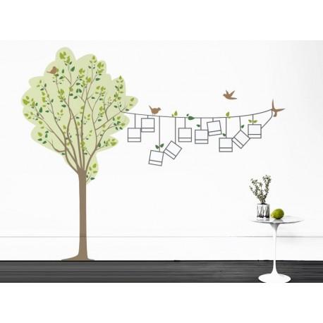Árbol Pajaritos Fotos II adhesivo decorativo ambiente