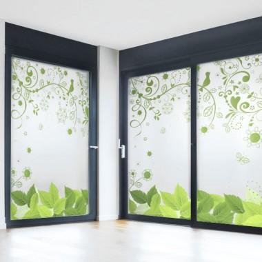 vinilos imagen producto Vinilo al ácido impreso Floral Verde