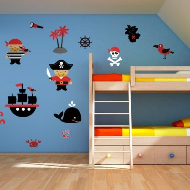 Piratas Infantil Composición imagen vinilo decorativo