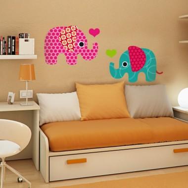vinilos imagen producto Elefantes Iris Composición