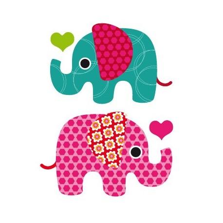 adhesivo decorativo Elefantes Iris Composición