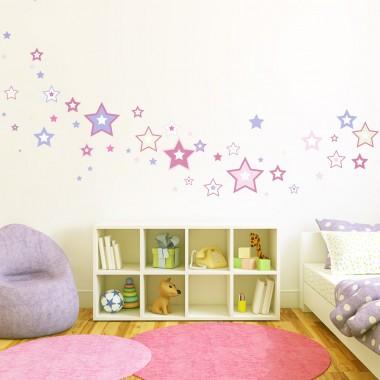 Estrellas Colores II decoración con vinilo