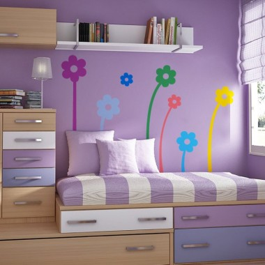 Flores Color imagen vinilo decorativo