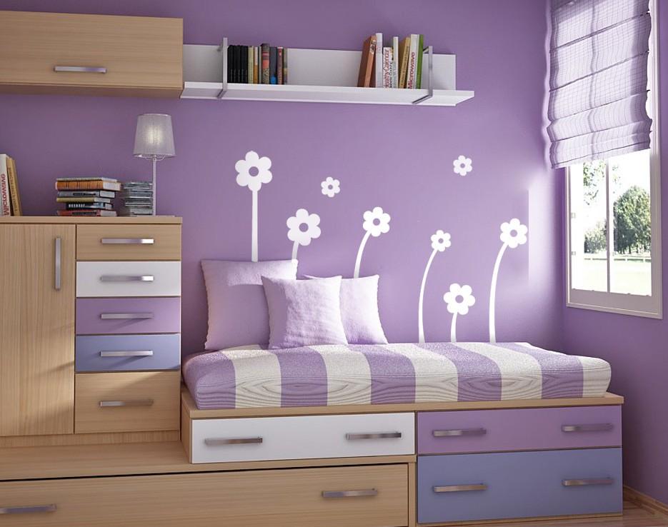 Vinilos Pared Habitacion Juvenil.Flores Blancas Composicion