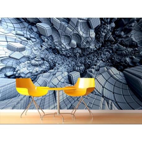 vinilo decorativo Fotomural Gemetría 3D