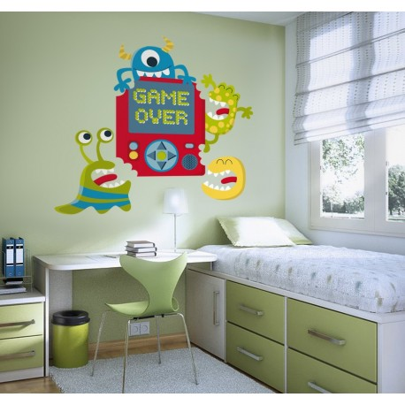 pegatina decorativa Game Over Monsters