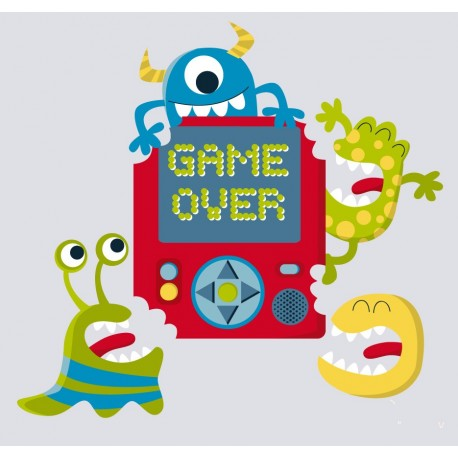 vinilos imagen producto Game Over Monsters