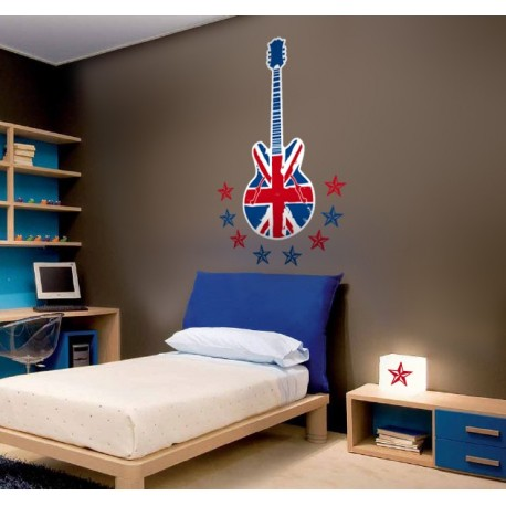 pegatina pared Brithis Rock & Roll para Cabecero