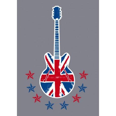 Brithis Rock & Roll para Cabecero imagen vinilo decorativo