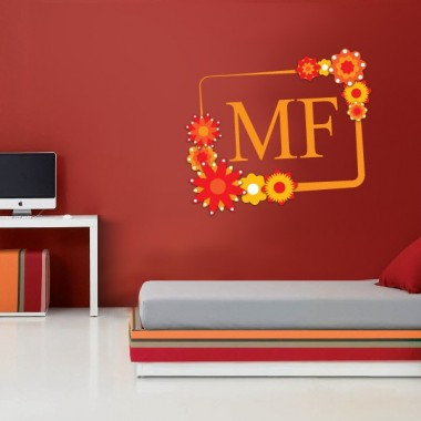vinilos imagen producto Marco Floral
