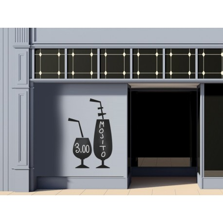Pizarra Bar Copas imagen vinilo decorativo