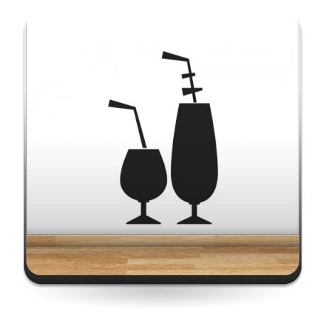 Pizarra Bar Copas decoración con vinilo