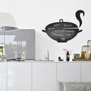 vinilos imagen producto Pizarra Cocina Olla