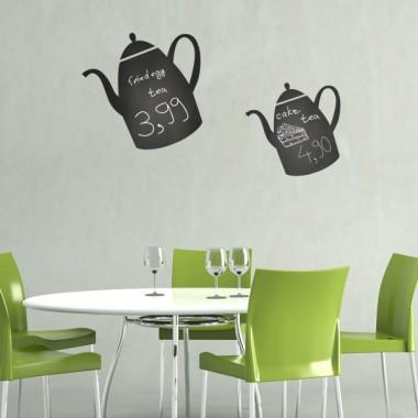 Pizarra Cocina Tetera adhesivo decorativo ambiente