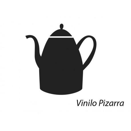 Pizarra Cocina Tetera decoración con vinilo