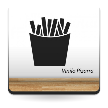 pegatina decorativa Pizarra Restaurante Chips