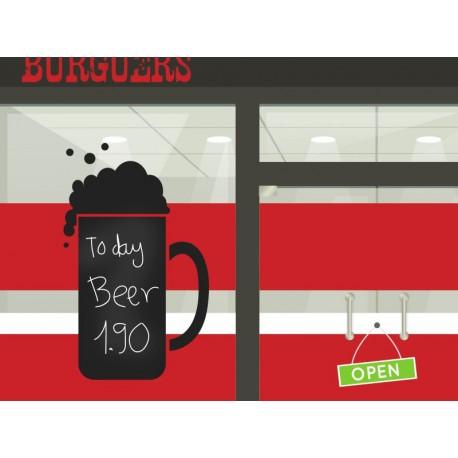vinilos imagen producto Pizarra Bar Cerveza