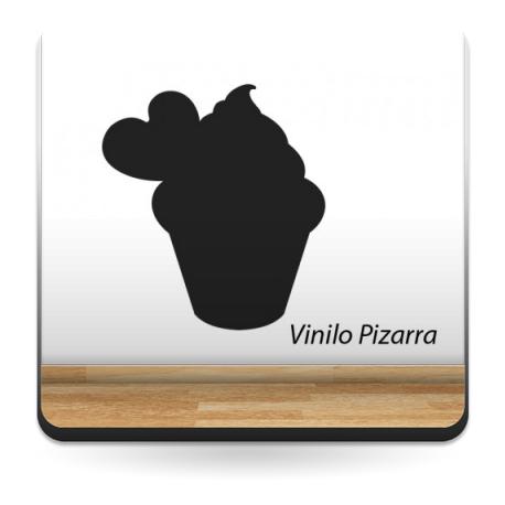 Pizarra Café Cup Cake adhesivo decorativo ambiente