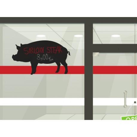 pegatina decorativa Pizarra Carnicería Cerdo