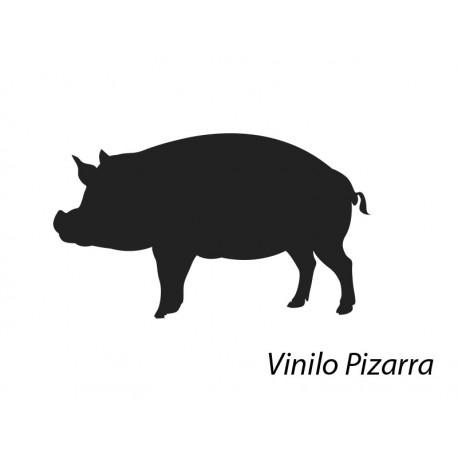 vinilos imagen producto Pizarra Carnicería Cerdo