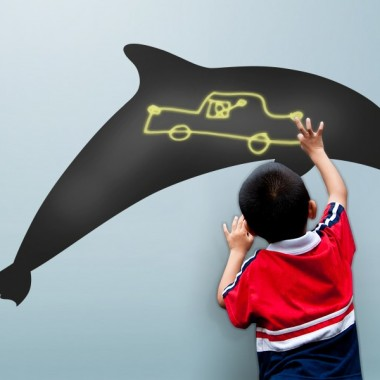 adhesivo decorativo Pizarra Infantil Delfín
