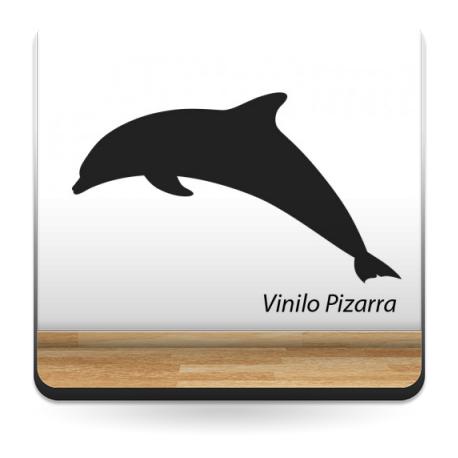 Pizarra Infantil Delfín imagen vinilo decorativo