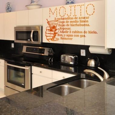 Receta Mojito imagen vinilo decorativo