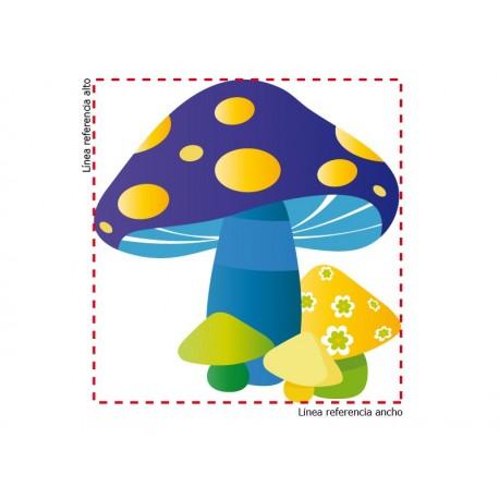 Hongos Azul adhesivo decorativo ambiente
