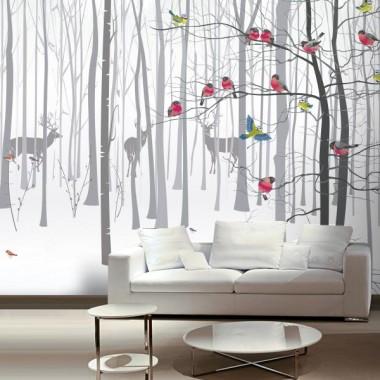 Fotomural Bosque Ilustración decoración con vinilo
