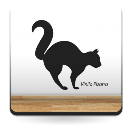 pegatina decorativa Pizarra Gato