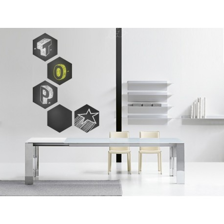 Pizarra Hexagono imagen vinilo decorativo